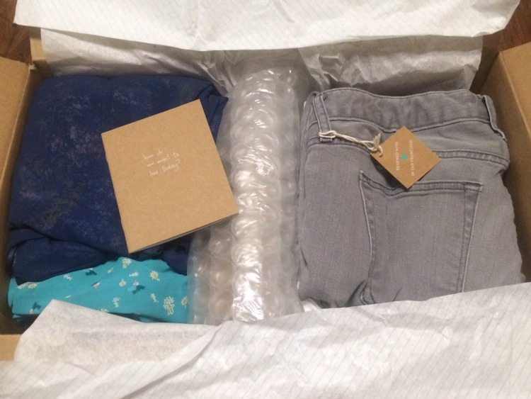 Clothes Inside ThredUp Box