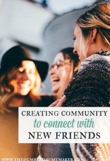 Whether you're new in town or have stayed in your same neighborhood for years, creating community is a fantastic way to connect with new friends.