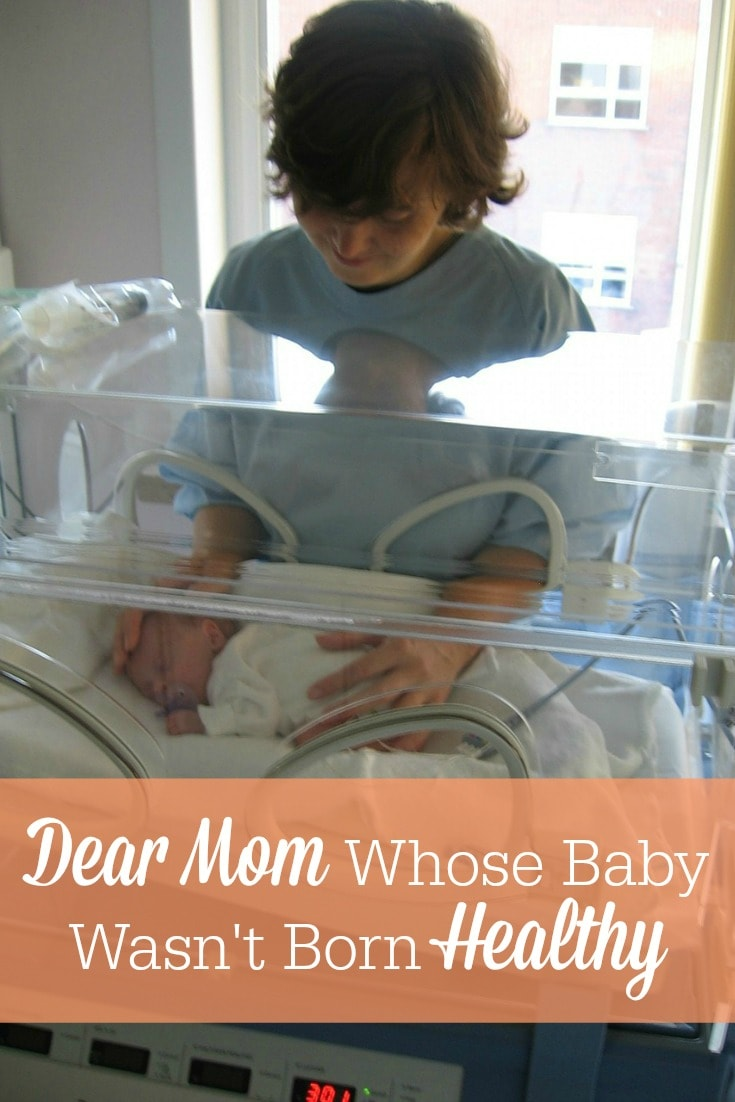 "Does your child have an impairment or disability? This is a heartfelt letter to the mama whose baby wasn't born ""healthy""!"