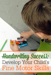 Want to teach your preschooler or Kindergartner fine motor skills that will build their handwriting? Here are some GREAT ideas and resources!