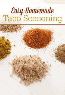 Keep the MSG out of your kitchen with this super easy recipe for homemade taco seasoning mix! #HomemadeSeasoning #EasyTacoSeasoning #TacoRecipes