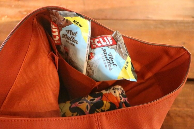 Non-GMO Clif Bars are a great on the go snack.