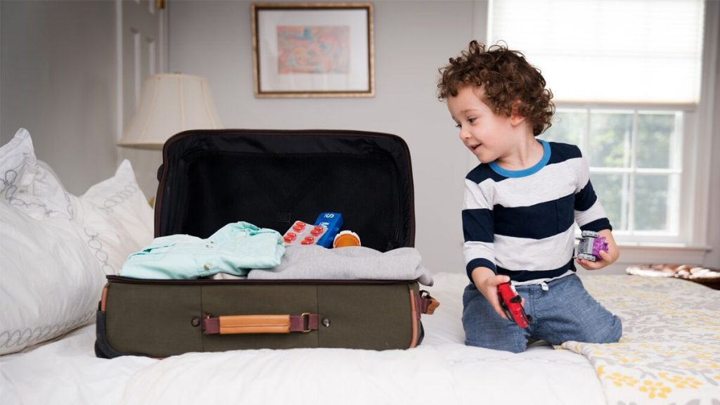 Keep your toddler safe after travel by putting up any pills or vitamins.