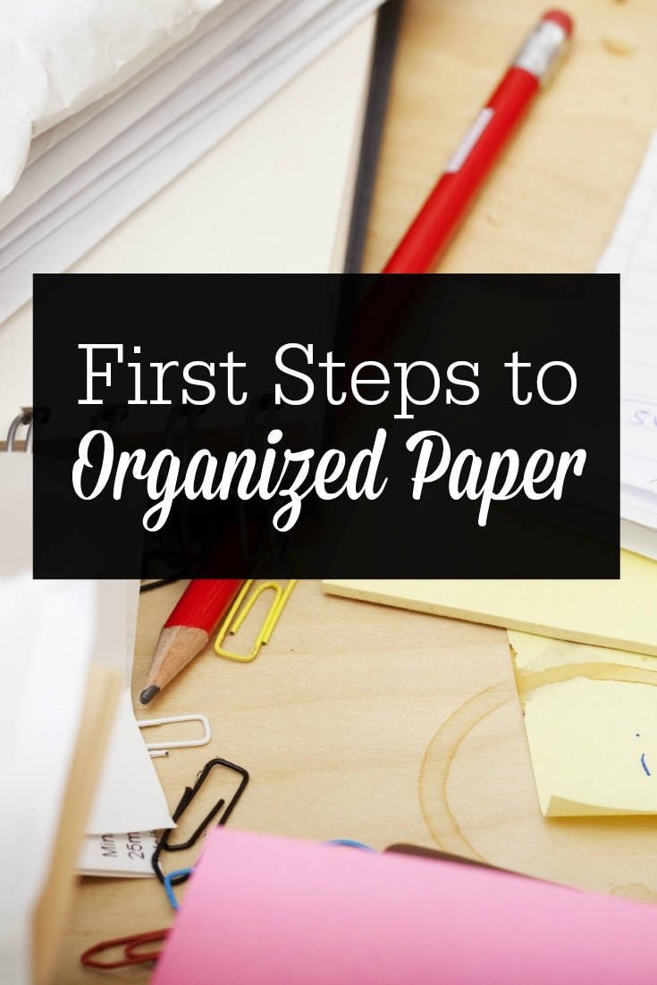 Paper clutter is one of the biggest problem areas for home organization. Here are resources and tips to help you take the first steps to organized paper!
