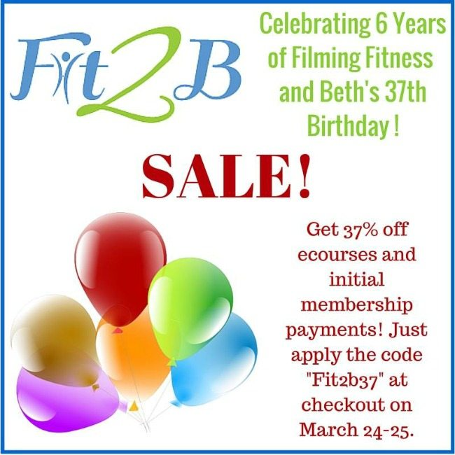 Fit2B sale