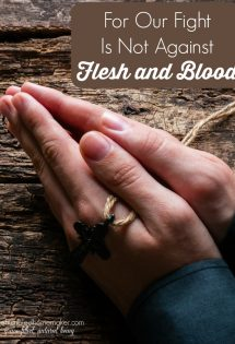 For Our Fight Is Not Against Flesh and Blood