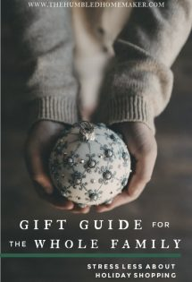 We hope this gift guide, which includes gifts you can buy ONLINE—without leaving your house—will help take the stress out of holiday shopping!