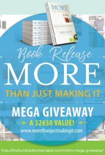 More Than Just Making It Mega Giveaway Roundup