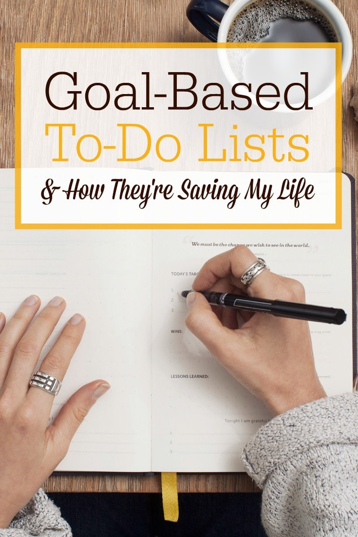 "Want to get some of the BIG goals crossed off your to-do list? I've been using a new system this year that I am calling ""goal-based to-do lists"" and I'm excited to share it with you. This system will apply to both work-at-home moms and to homemakers--basically anyone who has a to-do list!"