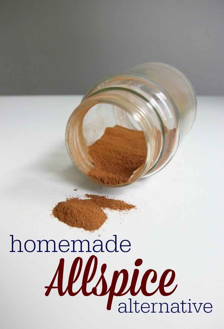 Allspice isn't something I normally keep on hand. When a recipe calls for it, I mix up this quick homemade allspice alternative, instead!