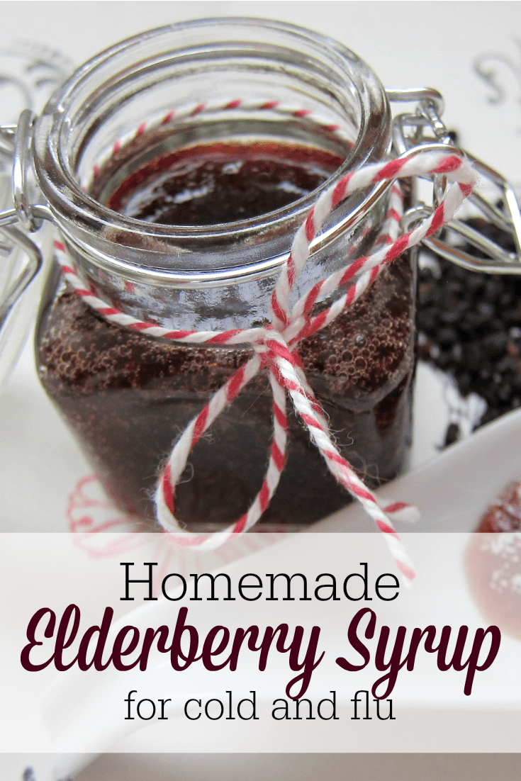 Homemade elderberry syrup is a safe, effective natural remedy for colds and flu--or just to boost your immune system all year long!