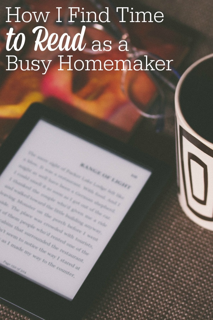 Need to work through a pile of books? Here's how I find time to read as a busy homemaker.