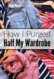 How I Purged Half My Wardrobe