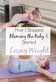 I FINALLY stopped blaming my baby for my weight gain, and I started losing weight! Here's how you canfinally get rid of the baby weight too!