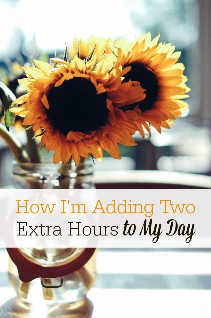 Is your life out of control? Try waking up early! This was the secret to adding two extra hours to my day...it was a total game changer in my life, and it can be for you, too!