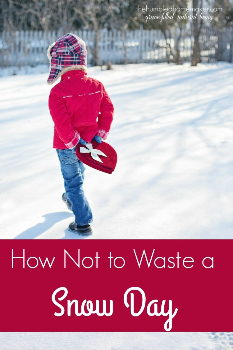 Don't waste a snow day! You can have fun, be productive, and form family traditions that will create memories that will last a lifetime! Here are some suggestions on how to make snow days fun.