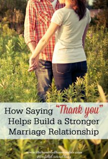 How Saying 'Thank You' Helps Build a Stronger Marriage Relationship