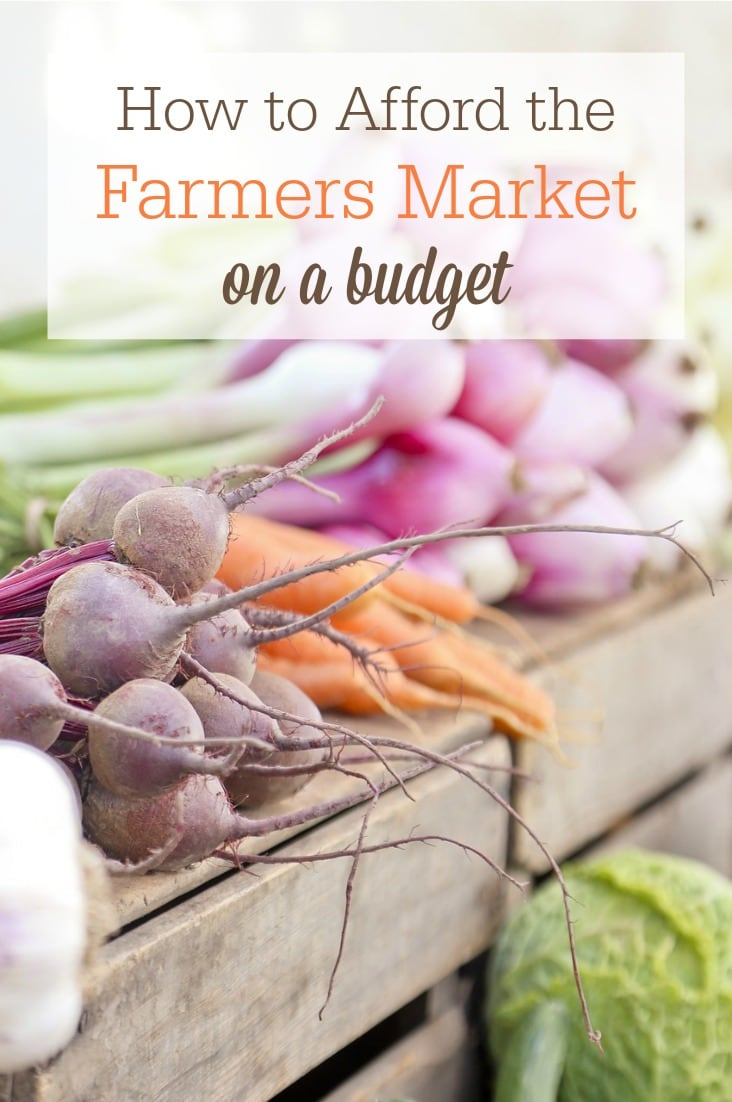 Wondering how to afford the farmers market on a tight budget? Try these 5 strategies!