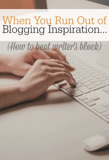 If you blog, here's how NOT to run out of blogging inspiration.