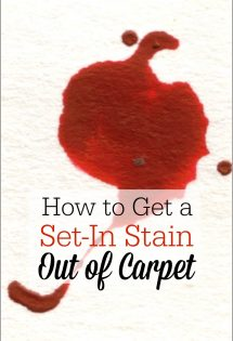 Oh how I needed this today! My kid threw up all over the carpet! This is a really cool method on how to get a set-in stain out of carpet!! DIY carpet stain remover--here I come!!