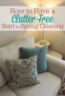 Address the clutter in your home BEFORE you tackle spring cleaning. Here's how to launch your clutter-free start to spring cleaning!
