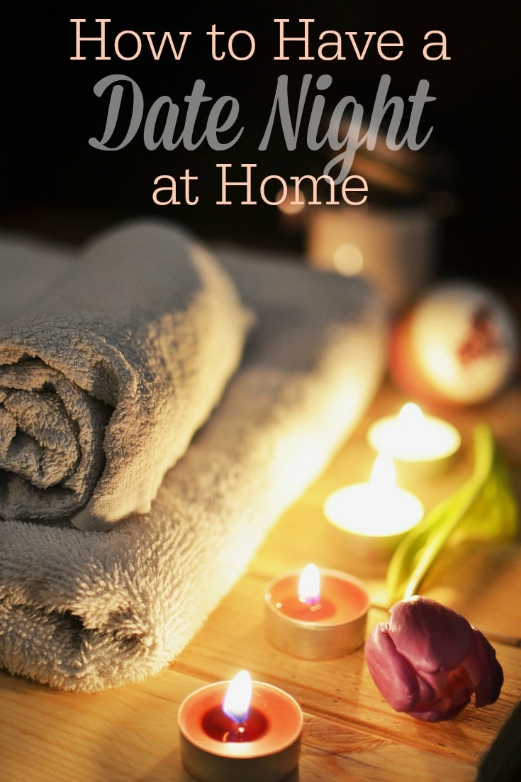 I love these ideas for having a date night at home with your spouse! They're great for Valentine's Day when you want to avoid the crowds, or any time of year that you want to have a date night on a budget!