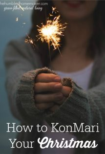 Christmas is supposed to be a time of joy, but all too often we clutter up the season with unnecessary burdens and stress. Here's how to simplify and refocus your holiday using the popular KonMari Method!