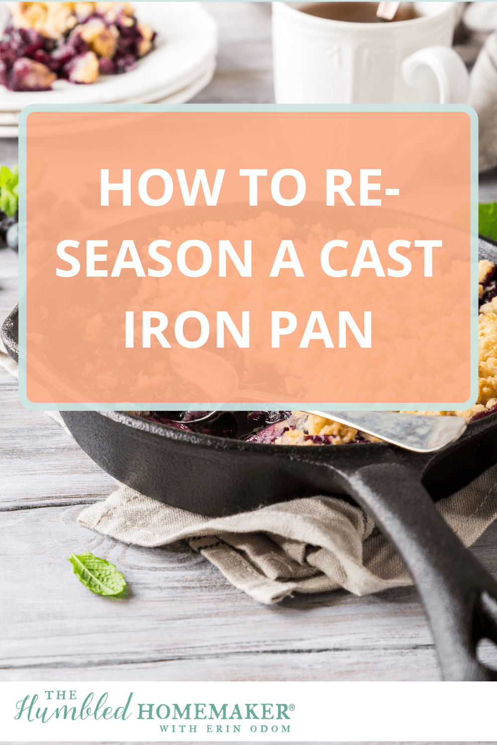 Cooking with cast iron is a safe and non-toxic alternative to using nonstick cookware. Here's a step-by-step tutorial for restoring and re-seasoning a rusty cast iron skillet or pan!