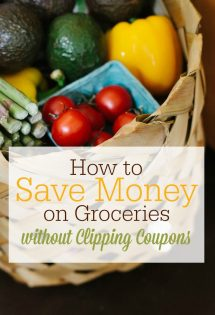 I don't like using coupons. The good news is that you can save money on groceries without using coupons at all!! Click through to find out how.
