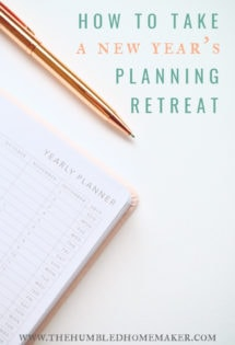 I have found that when I make the time to sit down and spend a few hours on New Year's Day (or very close to it)to plan out goalsfor the new year, my year goes much more smoothly than if I just take each day as it comes.