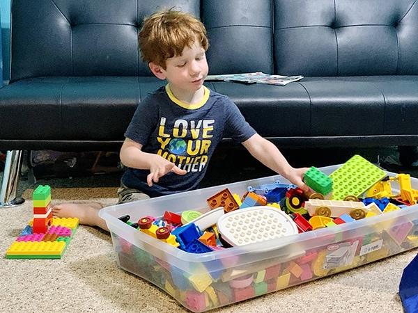 easy ways to organize LEGO - DUPLO blocks