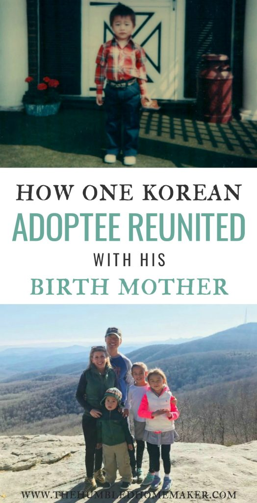My friend Lee is a Korean adoptee who spent nearly 40 years of his life not knowing if he would ever be reunited with his birth mother. I am so honored and humbled to get to share his story with the world!