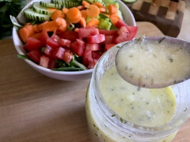 This simple Lemon Yogurt Homemade Salad Dressing is amazingly easy to create, boosts your salad's nutrition, and best of all, is delicious, too!