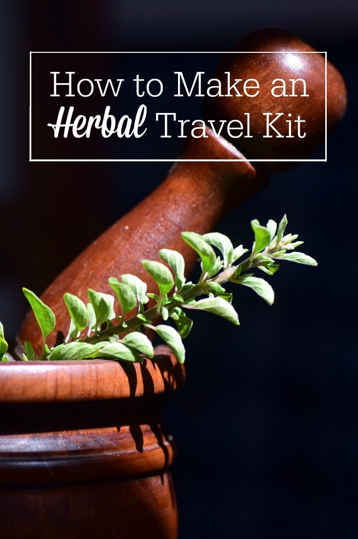 An herbal travel kit lets you take your natural remedies with you on the road! Here's how to assemble an herbal first aid kit so you can treat your family even when you're away from home.