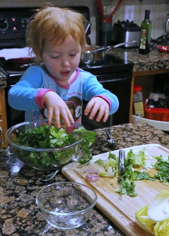 Making the salad