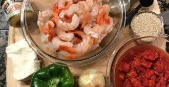 Mediterranean Quinoa with Shrimp recipe ingredients