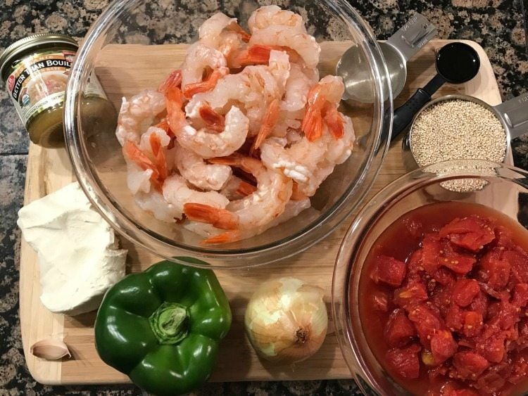 Mediterranean Quinoa with Shrimp recipe ingredients