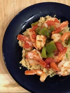Mediterranean Quinoa with Shrimp with Recipe