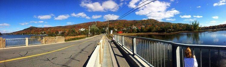a good walk on a bridge