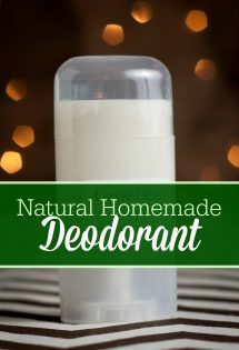 Conventional deodorant contains aluminum. Learn how to make your own natural, aluminum-free homemade deodorant with this frugal recipe! #NaturalDeodorant #HomemadeDeodorant #DIYdeodorant