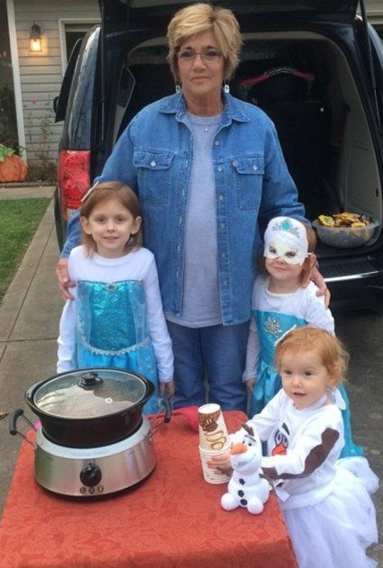 One way to redeem Halloween Give out hot cider to our neighbors!