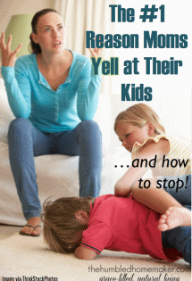 Do you yell at your kids too much? If you feel like you do, chances are all the yelling is caused by the #1 reason moms yell at their kids.
