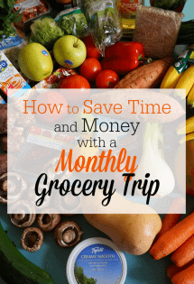 Save Time and Money with a Monthly Grocery Trip