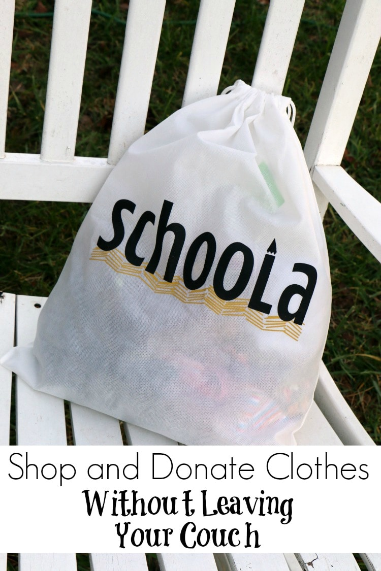 I'm always excited when I learn about new places where I can shop without leaving my home! Now I've also found a venue that will allow me to donate clothes without drive all over town as well!