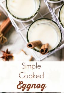 If raw eggs give you the heebie-jeebies, then you won't want to miss this simple cooked eggnog!