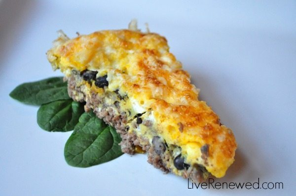 This Southwestern Frittata can be made with Aldi ingredients!