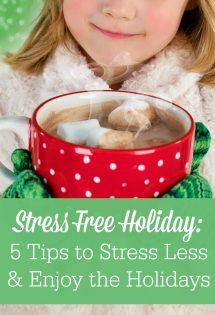 Are you looking for stress free holiday tips? You can stress less and enjoy the holidays more this year!