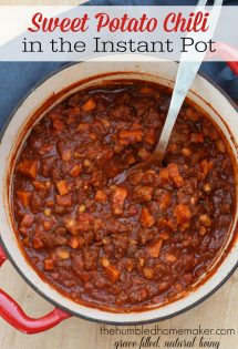 Try this delicious sweet potato chili recipe in your electric pressure cooker for a hearty meal!