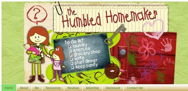 The Original Humbled Homemaker Header