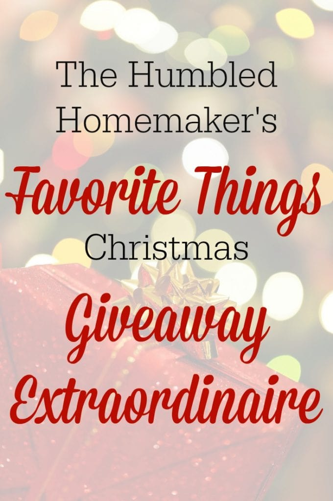 Win one of over $800 worth of prizes in my Favorite Things Christmas Giveaway Extraordinaire!